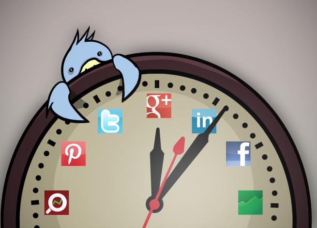 Mejores horas para publicar en redes sociales #infografía